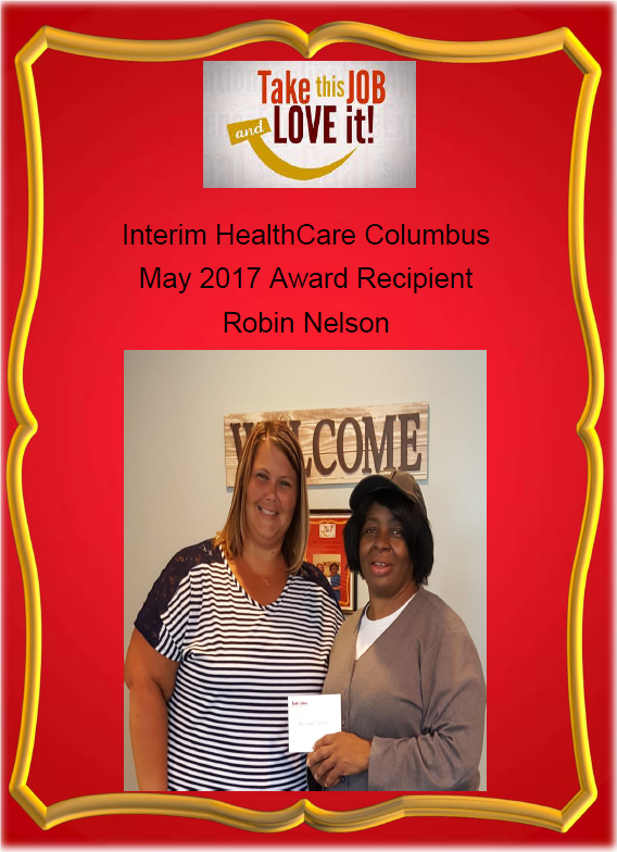 May 2017 - Award Recipient - Robin Nelson