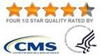 4.5 star quality rated by CMS for our excellent in home care in Pittsburgh