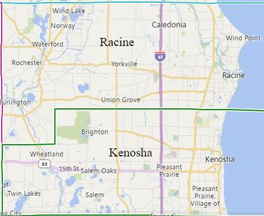 Our Kenosha County and Racine County, WI Home care Service Area