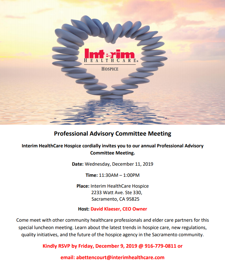 professional advisory committee meeting