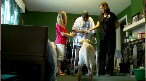 Confined to a wheelchair, Bradley would need to literally learn to walk again