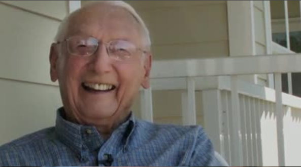 WW II veteran Ray Perkins lives alone in a retirement home.