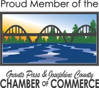 Proud member of the Grants PAss and Josephine County Chamber of Coomerce