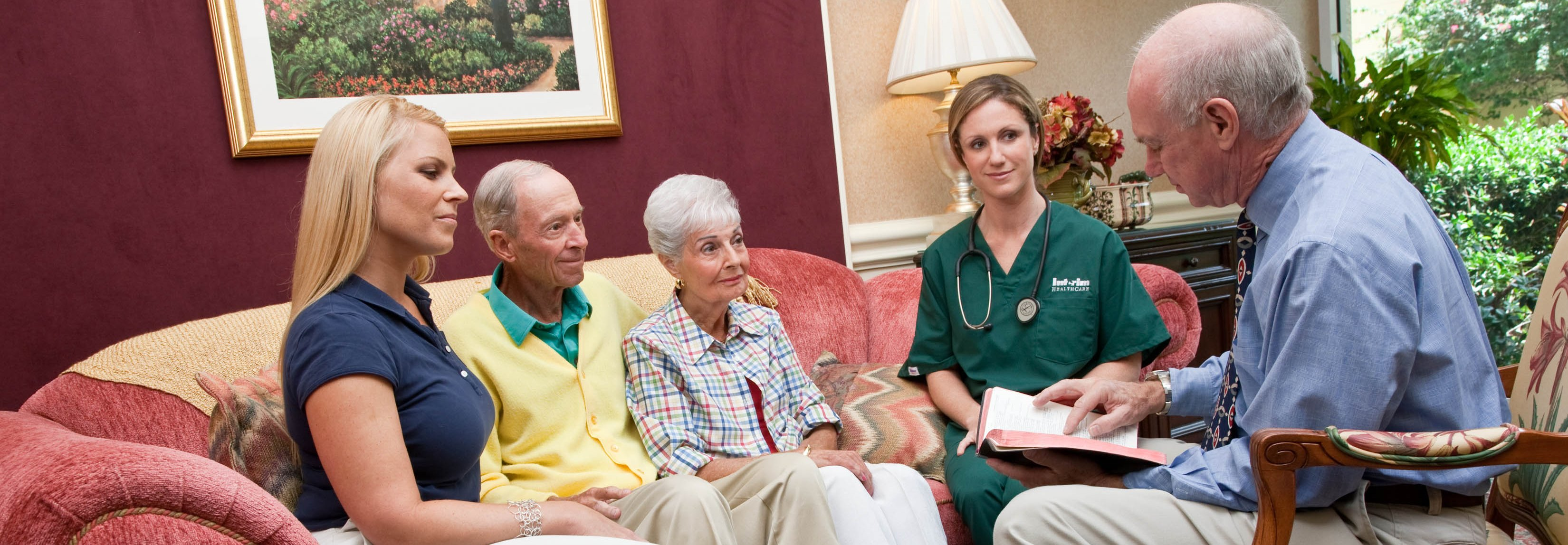 Hospice Care addresses patient  and family comfort and spiritual well being