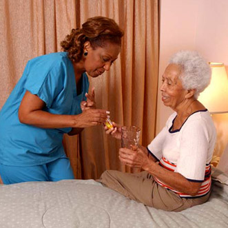 Senior Home Care at a residential facility by Interim HealthCare