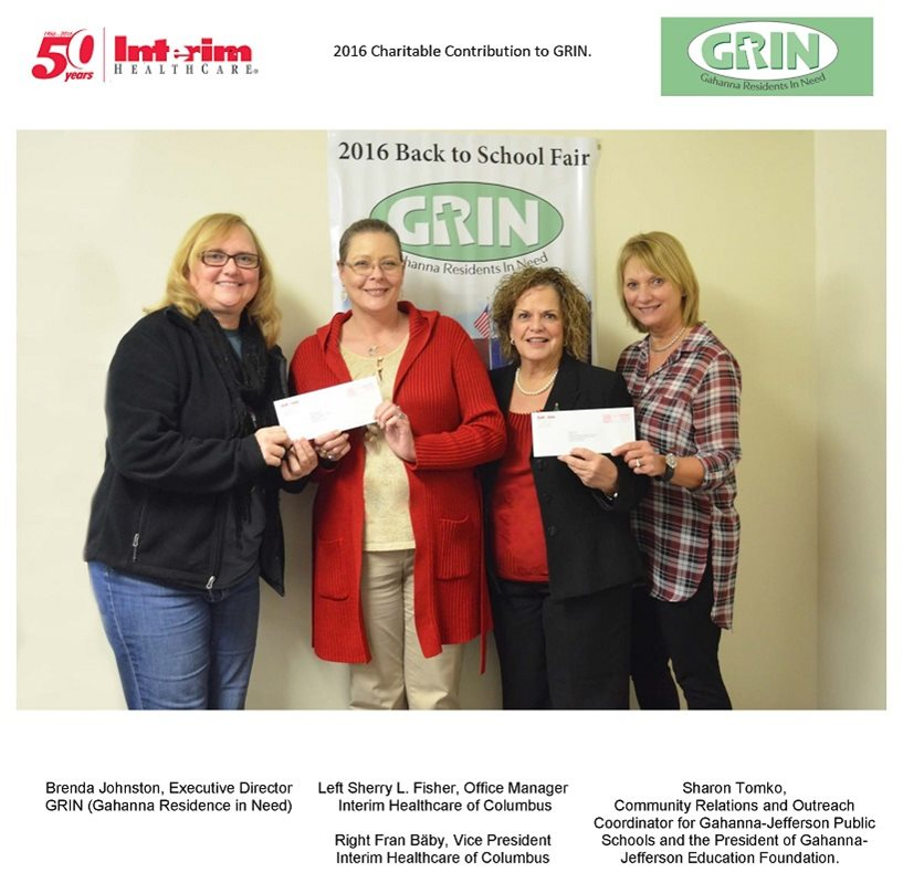 2016 Charitable Contribution to GRIN