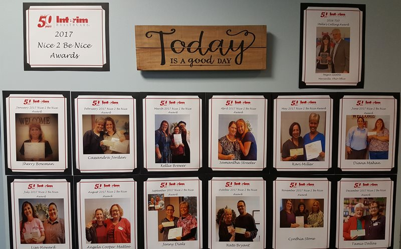 Employee Recognition - Columbus Ohio Nice to be Nice Wall
