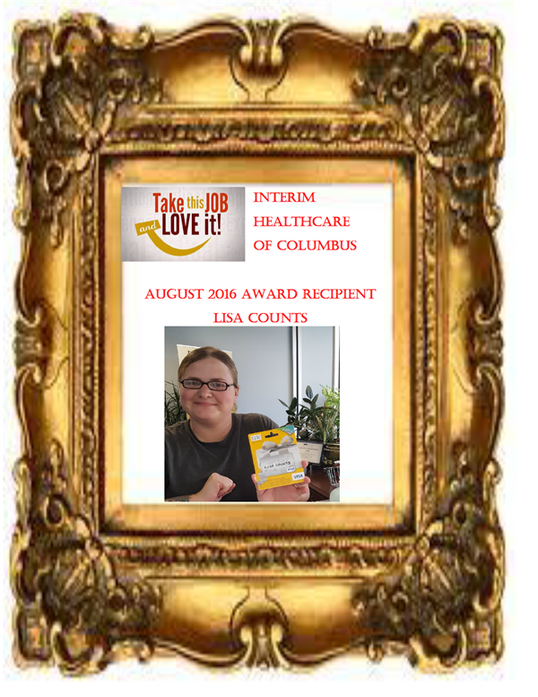 Aug 2016 Award - Lisa Counts