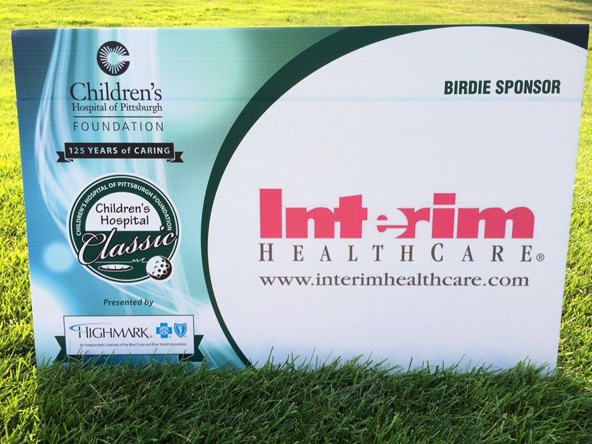 Interim HealthCare of Pittsburgh is proud to be a sponsor of the Childre's Hospital Classic Golf Event - helping to raise muc h needed funds for the care of children in need