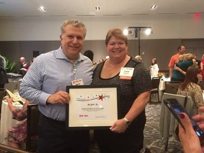 Congratulations Cheryl award was presented at the recent Interim Healthcare National Care Conference in Dallas.