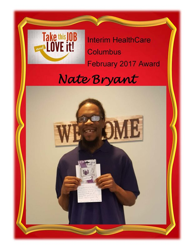 February 2017 - Award Recipient - Nate Bryant