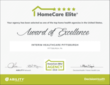 HomeCare Elite Award Interim HealthCare Pittsburgh