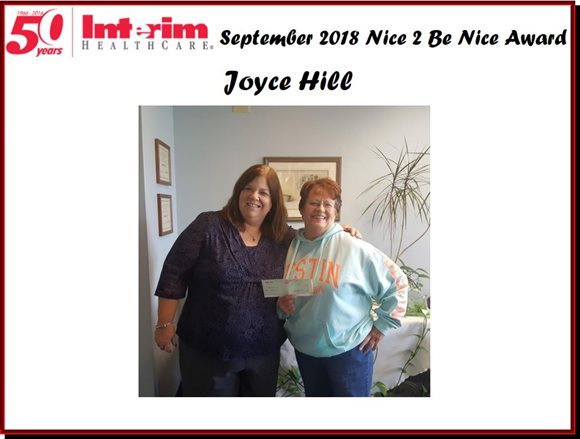Nice 2 Be Nice September 2018 Joyce Hill