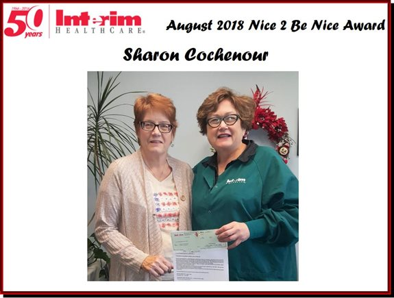Nice 2 Be Nice August 2018 Sharon Cochenour