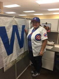 We had a great week showing off our #Cubs swag! Can't wait to see what everyone wears next week!! #FlyingTheW #GoCubsGo