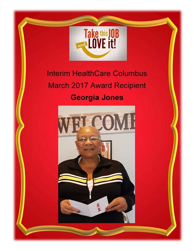 March 2017 - Award Recipient - Georgia Jones