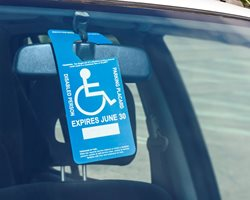Handicapped Placard for Car