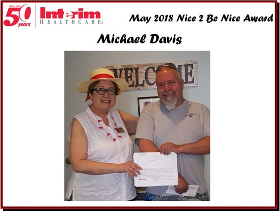 Nice 2 Be Nice May 2018 Michael Davis