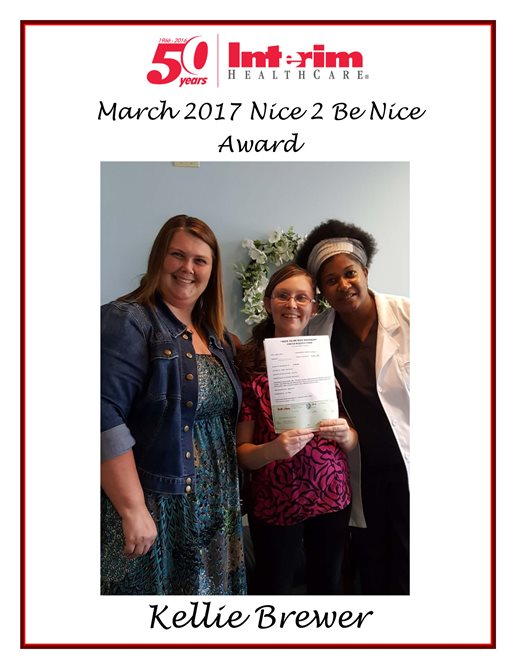 Nice 2 Be Nice Award 2017 - Kelli Brewer