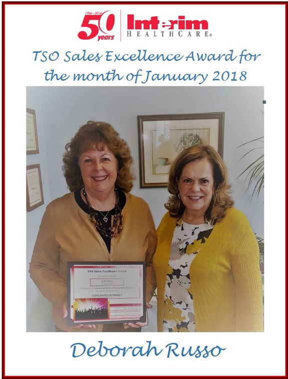 Deborah Russo - Sales Excellence Award Jan 2018
