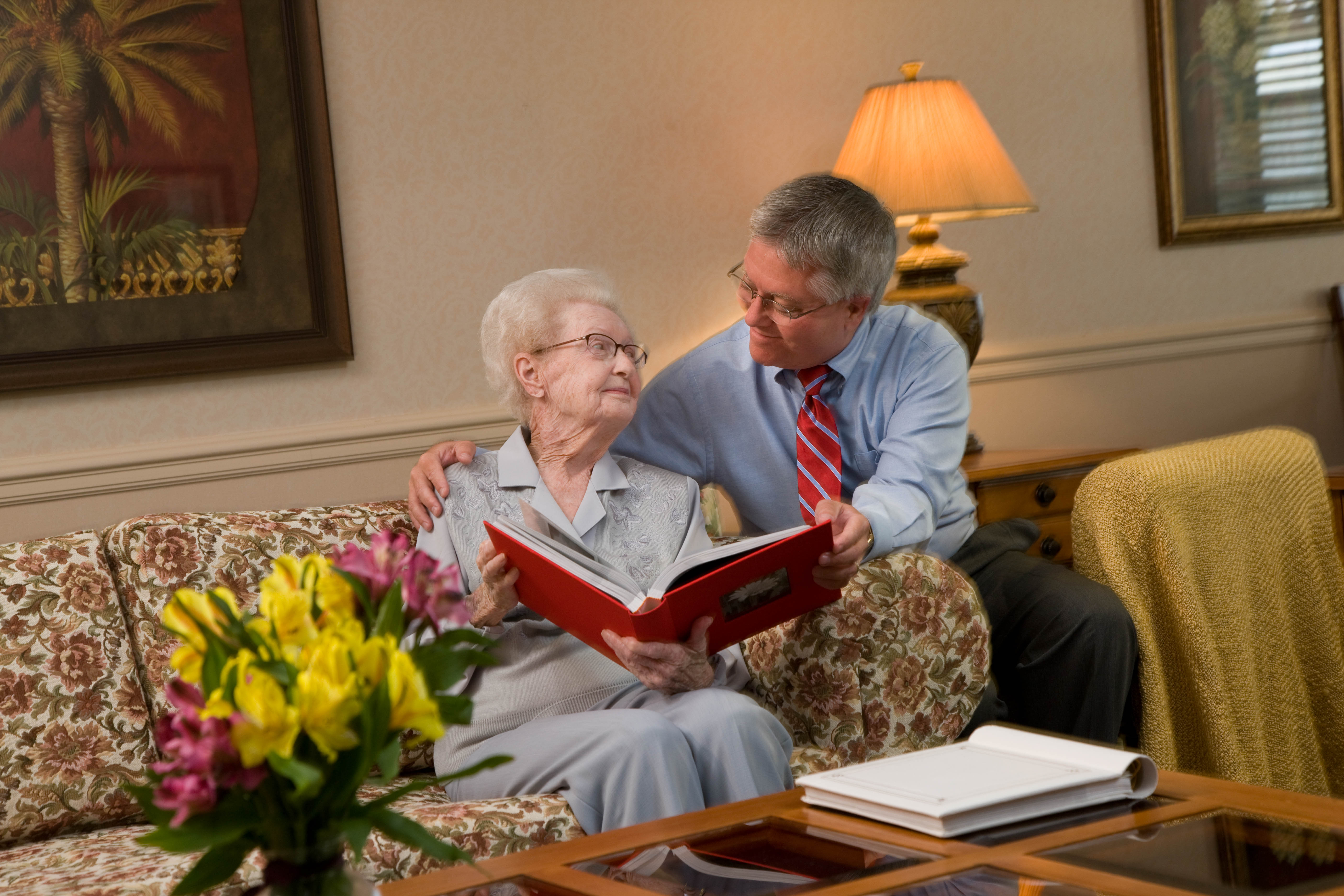 a Hospice Volunteer in Minneapolis comforts an Interim Hospice patient.