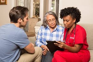 Nurse creates personalized care plan for patient - in home nursing care - west palm beach fl - treasure coast fl