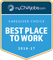 Voted best place to work by MyCNAJobs.com
