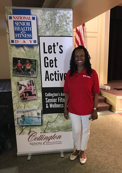 Shelia Whiteman, Owner, at the Senior Health and Fitness Community Event